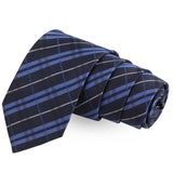 Glazed Blue Colored Microfiber Necktie For Men | Genuine Branded Product  from Peluche.in