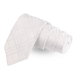Stunning White White Colored Microfiber Necktie For Men | Genuine Branded Product  from Peluche.in