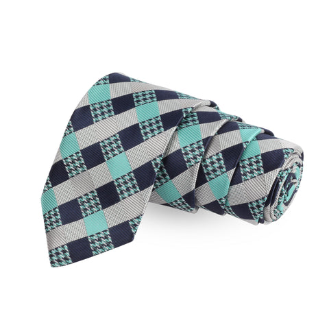 The Clubbed Design Blue Colored Microfiber Necktie For Men | Genuine Branded Product  from Peluche.in
