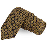 The Brown Flower Brown Colored Microfiber Necktie For Men | Genuine Branded Product  from Peluche.in
