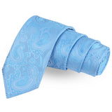 The Pulchritudinous  Blue Colored Microfiber Necktie For Men | Genuine Branded Product  from Peluche.in