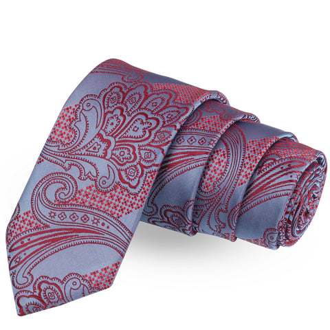 The Angelic Bew Blue Colored Microfiber Necktie For Men | Genuine Branded Product  from Peluche.in