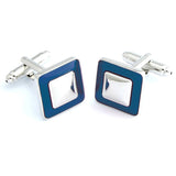 Everyday Square - Blue Cufflinks
