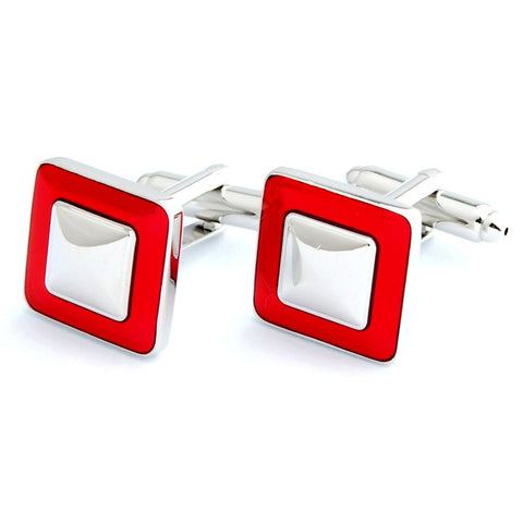 Everyday Square - Red Cufflinks