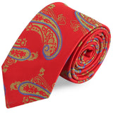 The Royal Red Microfiber Necktie For Men