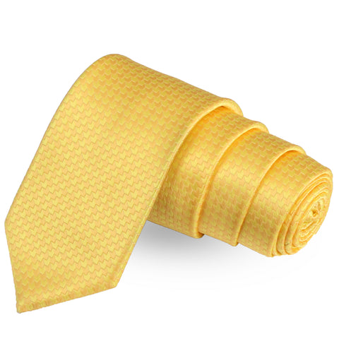 The Craven Curve Yellow Colored Microfiber Necktie For Men | Genuine Branded Product  from Peluche.in