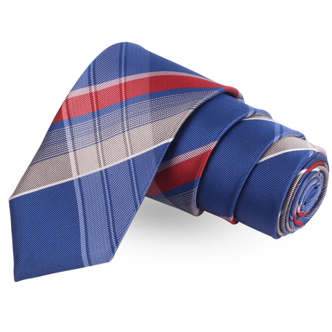 The Perfect  Blue Colored Microfiber Necktie For Men | Genuine Branded Product  from Peluche.in
