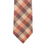 The Striped Check Microfiber Necktie For Men