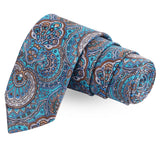 The Floret Grace Blue Colored Microfiber Necktie For Men | Genuine Branded Product  from Peluche.in