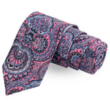 The Floret Grace Pink Colored Microfiber Necktie For Men | Genuine Branded Product  from Peluche.in