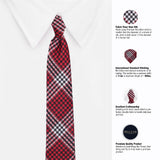 The Little Checks Microfiber Necktie For Men