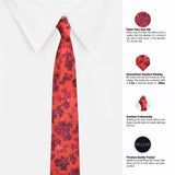 The Floral Turf Microfiber Necktie For Men