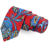 The Floret Melee Red Colored Microfiber Necktie For Men | Genuine Branded Product  from Peluche.in