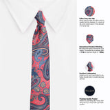 The Pink Assort Microfiber Necktie For Men