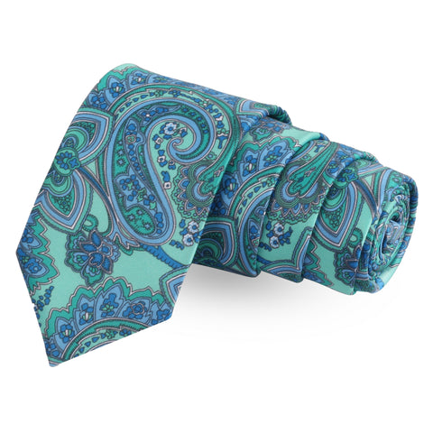 The Fuller Blue Colored Microfiber Necktie For Men | Genuine Branded Product  from Peluche.in