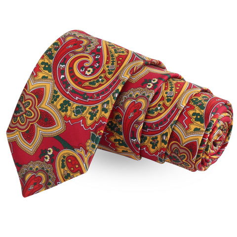 The Perinnial  Red Colored Microfiber Necktie For Men | Genuine Branded Product  from Peluche.in