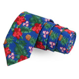 The Floral Ambush Blue Colored Microfiber Necktie For Men | Genuine Branded Product  from Peluche.in