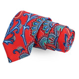 The Foxy Flair Red Colored Microfiber Necktie For Men | Genuine Branded Product  from Peluche.in