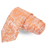 The Beauteous Brew Orange Colored Microfiber Necktie For Men | Genuine Branded Product  from Peluche.in