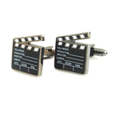 Peluche - Action - Black, Grey, White - Cufflinks - Brass, Gun metal Plating, Enamel
