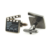 Action - Black, Grey, White Cufflinks
