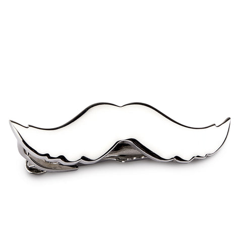 Peluche The Silver Manly Moustache Tie Pin