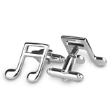 The Silver Note Cufflinks