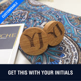 Customized Natural Cheery Wood Cufflinks
