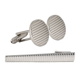 Peluche Suave - Cufflinks and Tie Pin Set Brass
