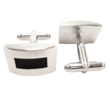 Classic Black Cufflinks and Tie Pin Set