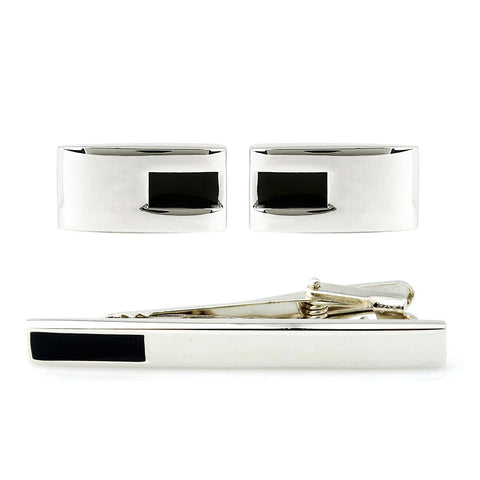 Mr.Dapper - Minimalist - Cufflinks and Tie Pin Set