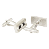 The Bling Bar - Silver Cufflinks and Tie Pin Set