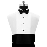 Peluche Debonair Black Cummerbund and Bow Tie Set Satin