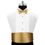 Peluche A Golden Rendezvous - Cummerbund and Bow Tie Set Satin