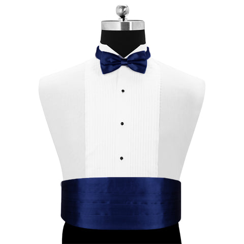 Magnificent Aviary Blue - Cummerbund and Bow Tie Set