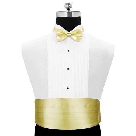 A Light Golden Rendezvous - Cummerband and Bow Tie Set