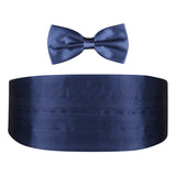 The Cerulean Navy Blue - Cummerband and Bow Tie Set