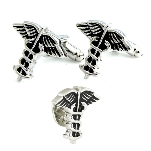 Peluche The Doctor's Choice - Cufflink and Lapel Pin Set Brass, Metal