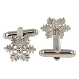 Snow Flake - Cufflink and Lapel Pin Set