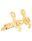 Golden Symbol of Musi Cufflink and Lapel Pin Set