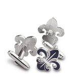 Beautifully Crafted Orchid Cufflink and lapel Pin Set