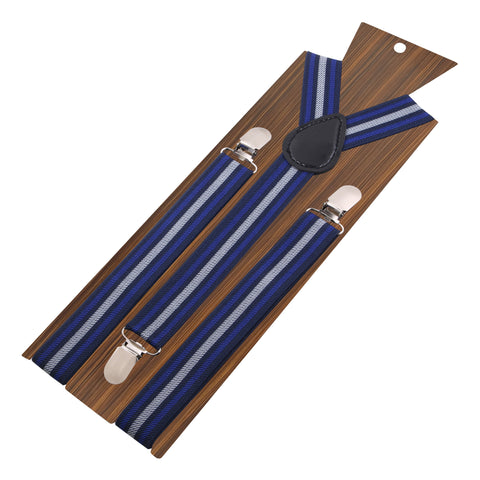Peluche The Cool Stripes - Blue Suspenders Elastic, Brass