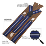 The Cool Stripes - Blue Suspenders