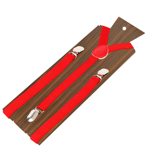 Uptown Funk Red Coloured 1.5cm strap width suspender for men | Genuine Branded Product Elastic
