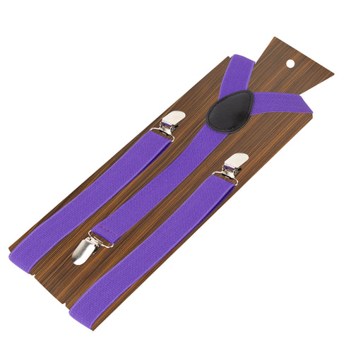 Back to Basic Purple Coloured 2.5cm strap width suspender for men | Genuine Branded Product Elastic