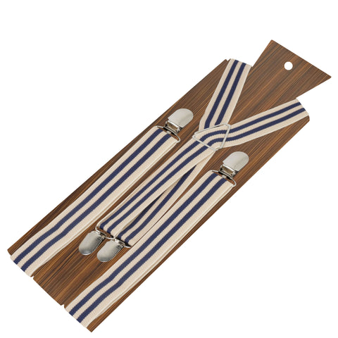 Up Beat Beige Coloured 2.5cm strap width suspender for men | Genuine Branded Product Elastic