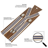 Up Beat Beige Coloured 2.5cm Strap Width Suspender For Men