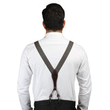 Dotted Fashion Black, White and Brown Colored Elastic Suspenders for Men