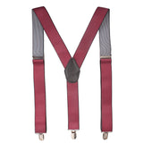 Polka Dots Red Coloured Suspender For Men