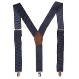 Eloquent Stripes Blue Coloured Suspender For Men